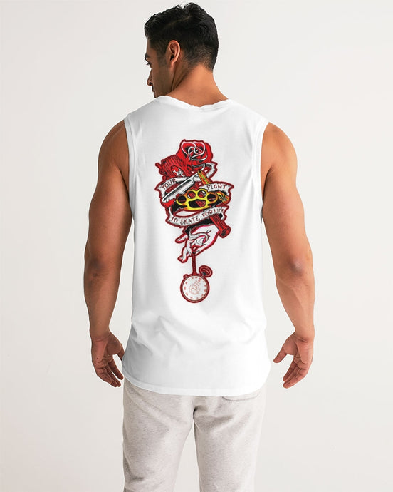 YOUR FIGHT  WHITE MEN´S SPORT TANK - Esedece skateboards