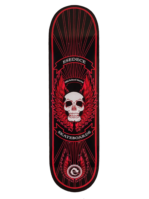SKATE DECK BLACK WINGED SKULL - Esedece skateboards