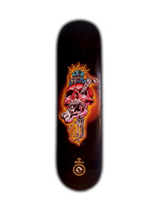 SKATE DECK CRAZY SKULL - Esedece skateboards