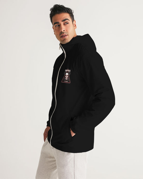 BLACK SKATE ZONE ZIP MEN´S WINDBREAKER - Esedece skateboards