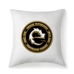 GOLDEN LOGO ESEDECE SKATEBOARDS CUSHION / PILLOW - Esedece skateboards