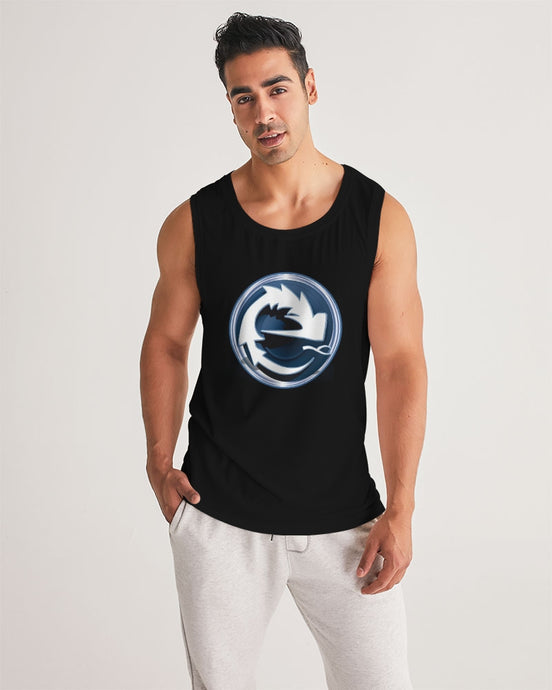 NAUGHTY BLUE BLACK MEN´S SPORT TANK - Esedece skateboards