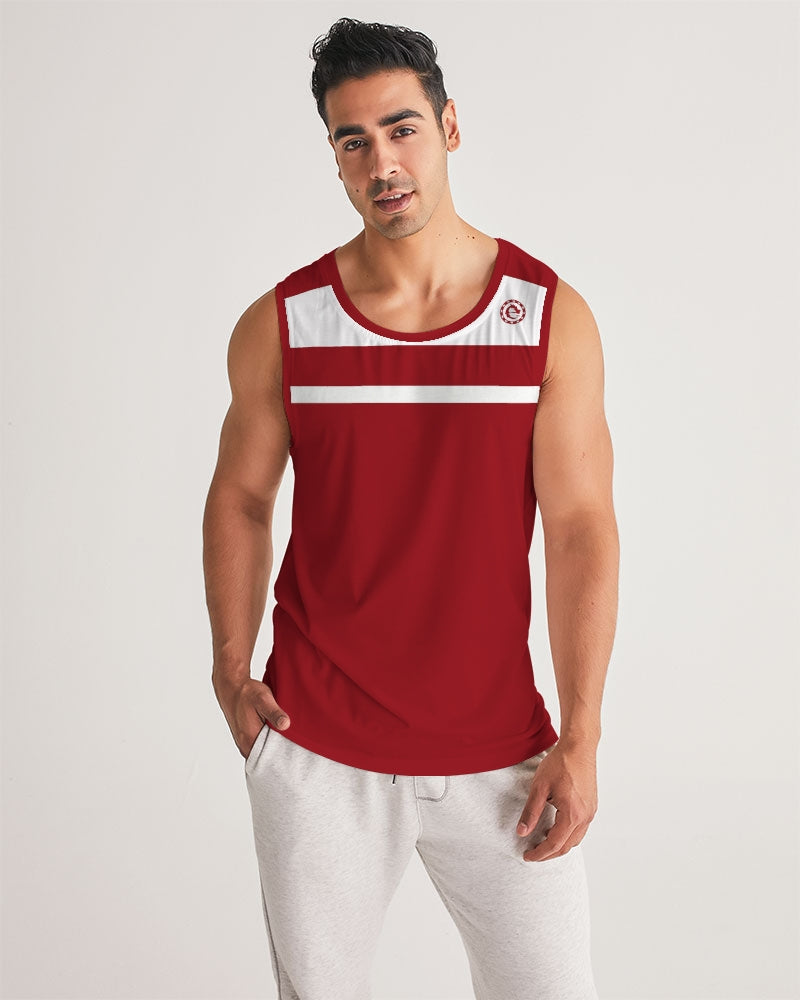 WHITE LINE IN THE RED SPORT TANK - Esedece skateboards