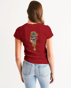 CRAZY SKULL RED WOMEN´S TEE - Esedece skateboards