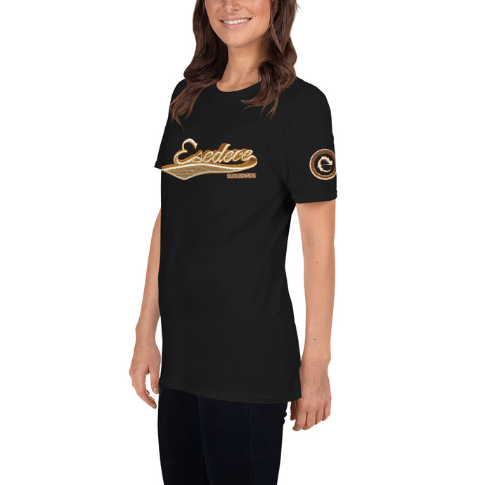 BASEBALL GOLD COTTON WOMEN´S TEE - Esedece skateboards