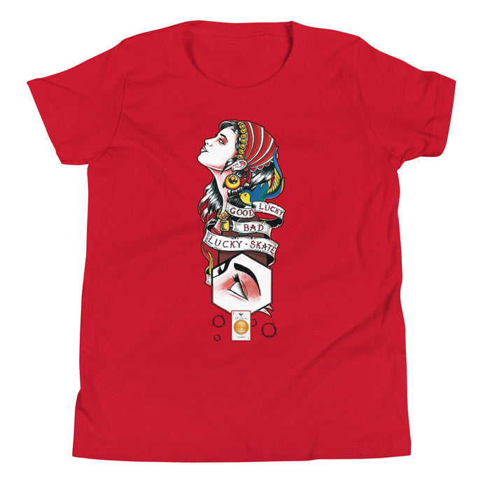 LUCKY GIPSY COTTON KIDS´S TEE - Esedece skateboards
