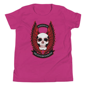 WINGED SKULL COTTON KIDS´S TEE - Esedece skateboards