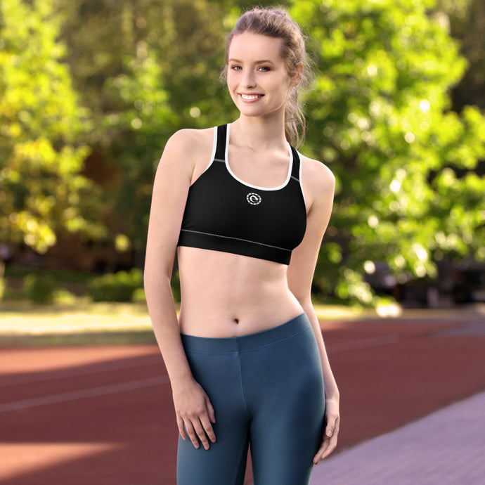 BASIC LOGO BLACK SPORTS BRA - Esedece skateboards