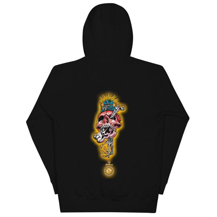 CRAZY SKULL COTTON UNISEX HOODIE - Esedece skateboards
