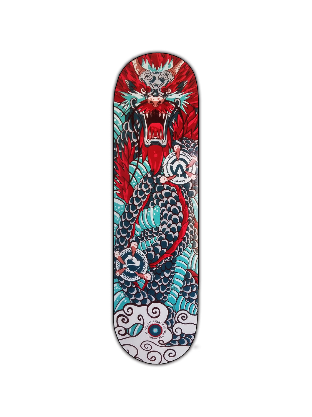 SKATE DECK  COLLABORATION ASDAN DRAGON X ESEDECE SKATEBOARDS - Esedece skateboards