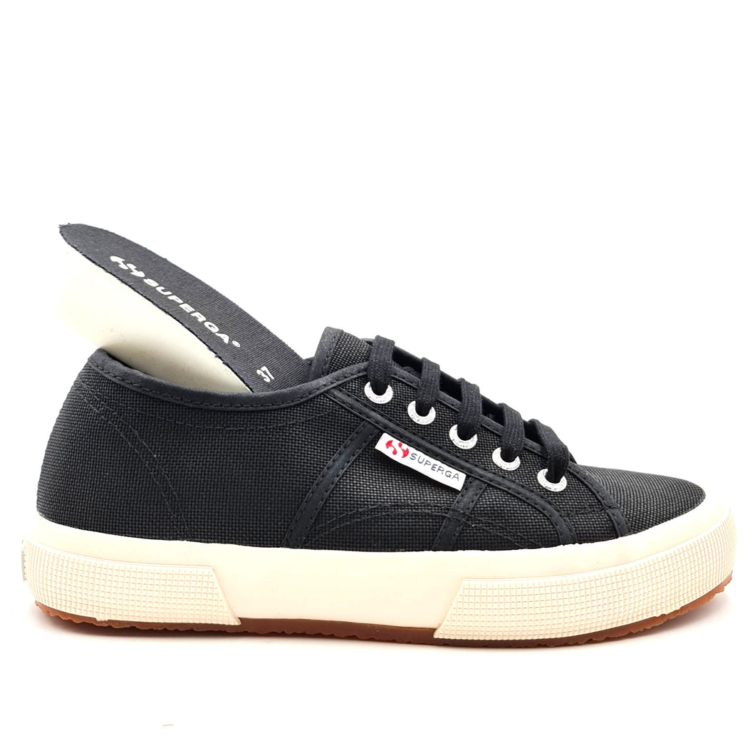 SUPERGA 2750 plus nero zeppa interna 12X