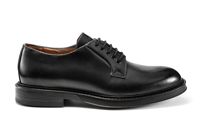 Frau derby dandy in pelle nero A18