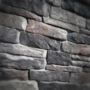 Black Bear Mountain Stone - Stone Veneer - Ledge Stone Midnight