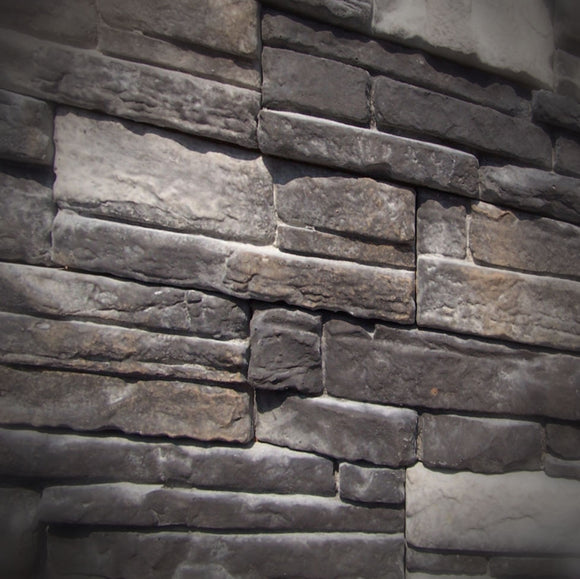 Black Bear Mountain Stone - Stone Veneer - Ready Stack Black Forest
