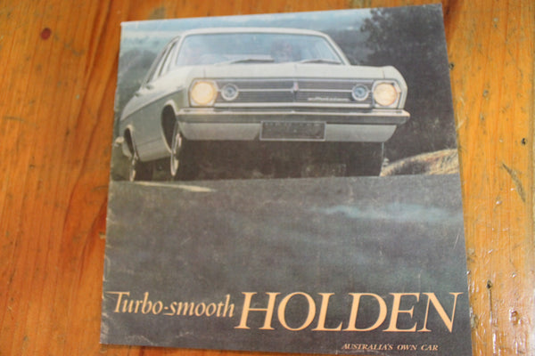 1966 - Turbo-Smooth Holden Brochure