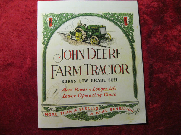 John Deere Farm Tractor Catalogue