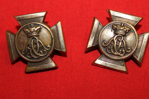 Wiltshire Regiment Collar Badge Pair