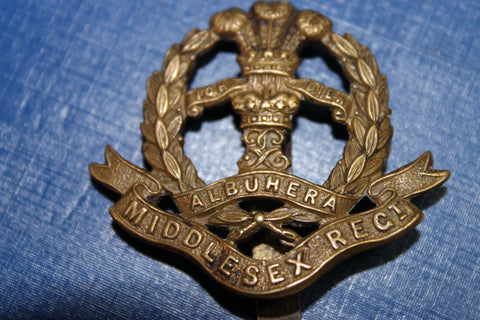 Middlesex Regiment WW1 Economy Cap Badge
