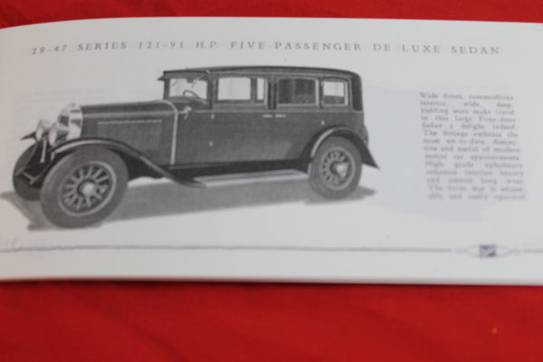 1929 - Buick Catalogue