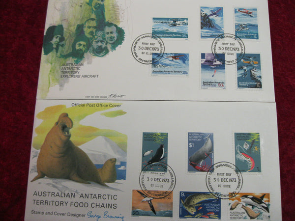 1973-74 AAT Definitives FDC's