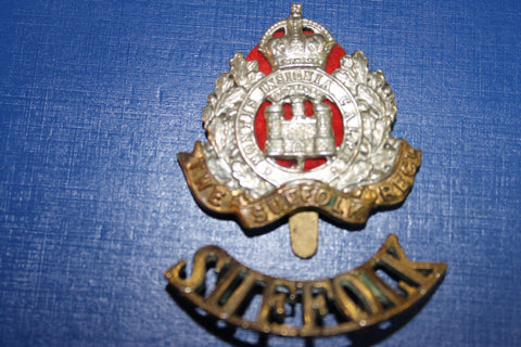 The Suffolk Regiment Cap and Shoulder Title