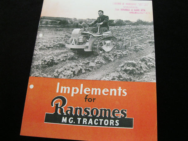 Ransome's Tractor Catalogue