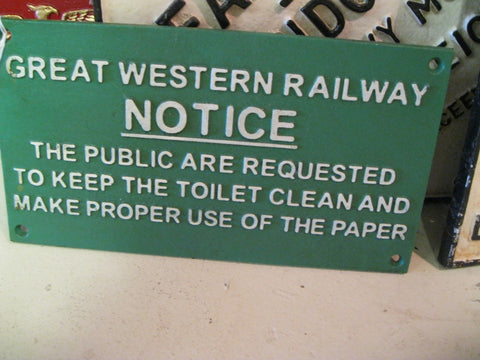 Great Western Railway Notice