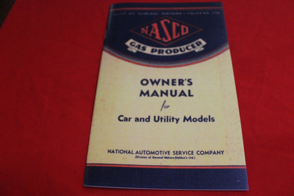 NASCO Gas Producer Owner's Manual