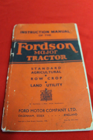 Fordson Major Tractor Instruction Manual