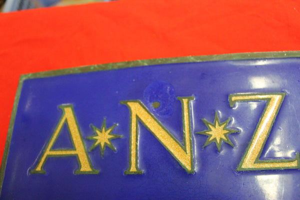 Bronze and Enamel Bank Plaque