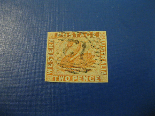 West Australia SG24  2 b Pale Orange Stamp