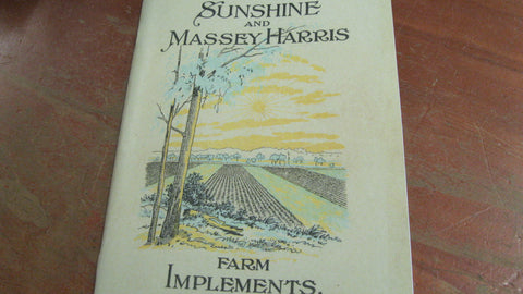 """Sunshine and Massey Harris"" Farm Implements Catalogue ."