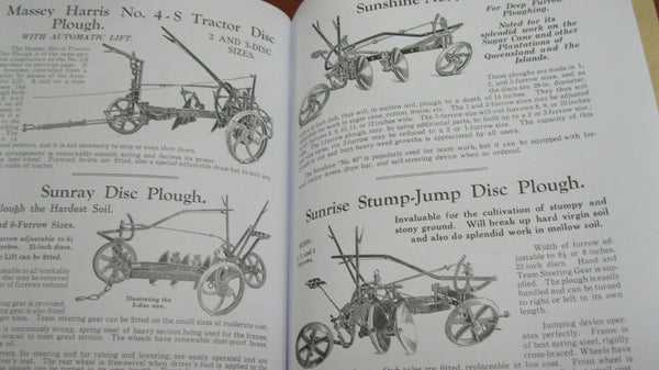 "Private Re-print of - ""Sunshine and Massey Harris"" Farm Implements Catalogue ."