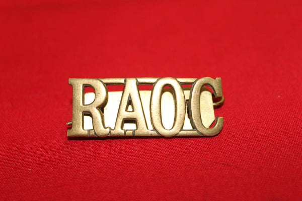 RAOC Shoulder Title