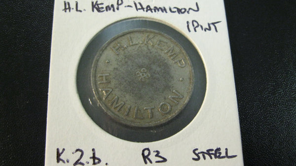 R3 - H.L.Kemp One Pint Milk Token - K.2.b