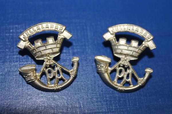 Somerset Light Infantry Collar Badge Pair