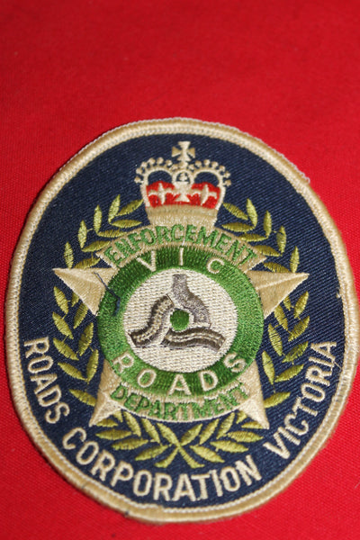 Vic Roads Enforcement Department Gold Braid Patch