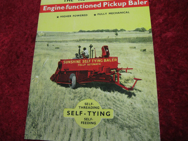 Sunshine - Pickup Baler Pamphlet