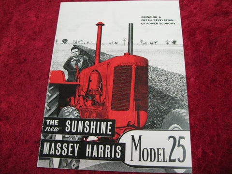 Massey Harris Model 25 Catalogue