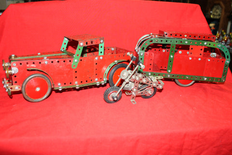 Meccano Ute and Caravan