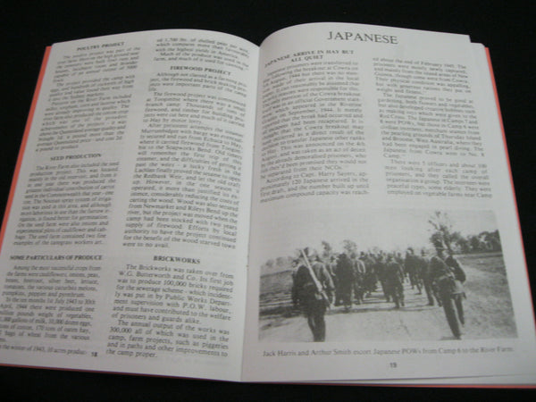 Hay P.O.W and Interment Camp Booklet