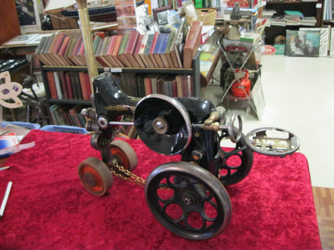 Recycled Art Traction Engine