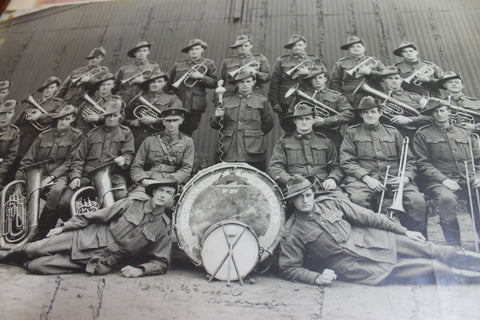 Large  WW1 - Signed Photo of Australian Artillery Band
