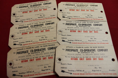 Vintage Rail Siding Bag Tags