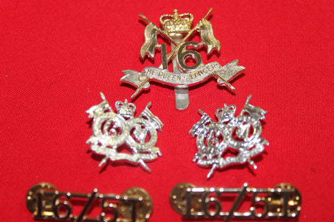 16/5th Queen's Royal Lancers Badge Set