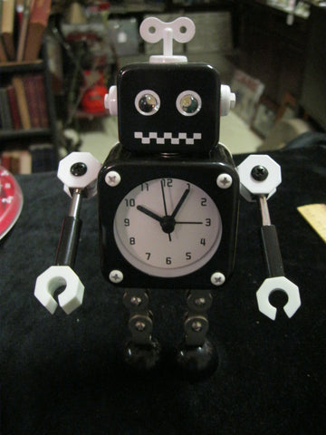 Black Robot Clock