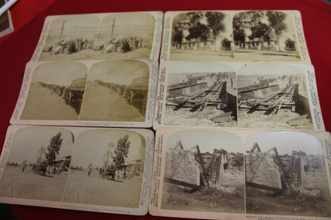 Boer War Stereo View Card Lot