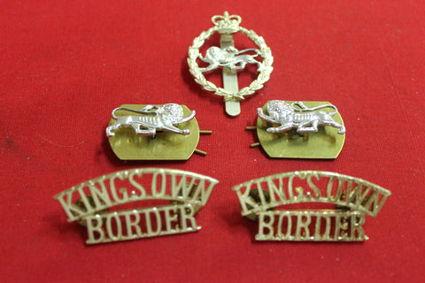 The King's Own Border Regiment Badge Set