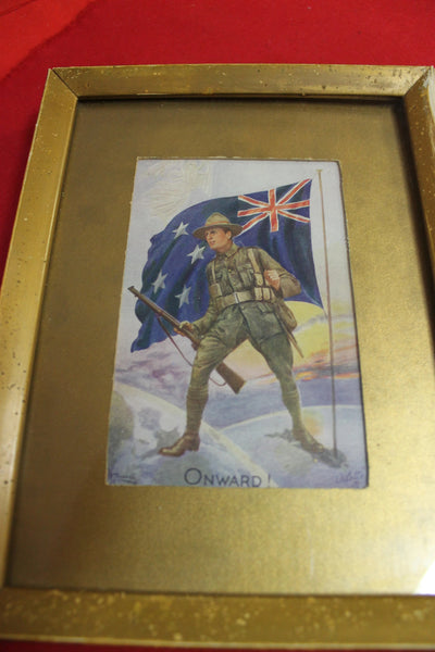"WW1 - NZ "" Onwards "" Oilette Post Card"