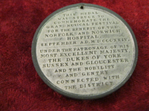 1824 - George 1V Music Festival Medallion